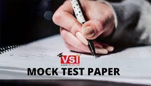VSI Mock Test Paper